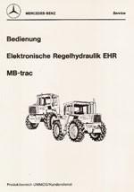 Bedienung Elektronische Regelhydraulik EHR MB-trac - 30 400 54 04 Original - 304001025