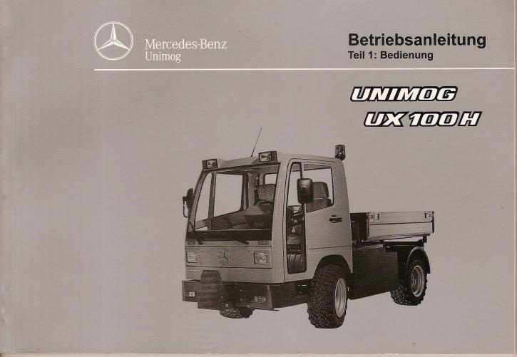 Betriebsanleitung Unimog UX 100 H Teil 1 Bedienung - 6518 5036 00 Original - 304001019