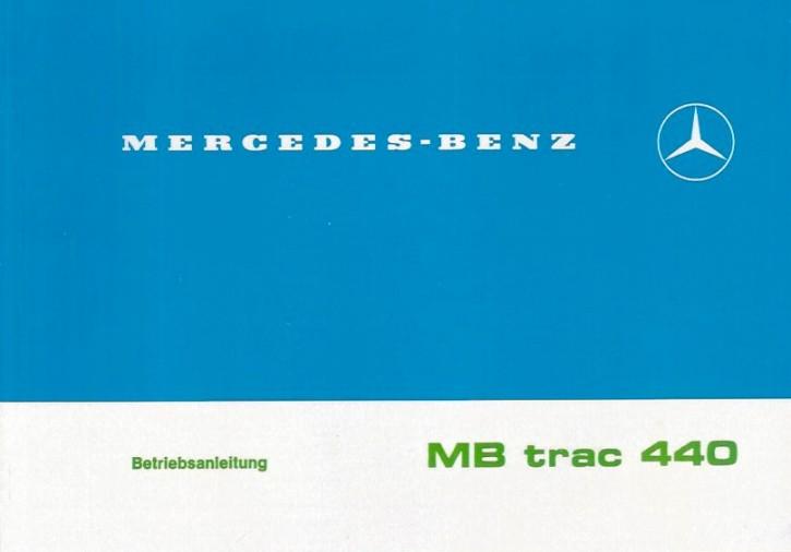 Betriebsanleitung MB-trac 440 - 4.1982 - 65/70/700/800 -  30 400 51 21 - 304001022
