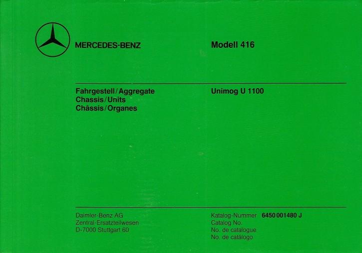 Bildkatalog Unimog 416 FG/Aggregate - 1480 J - 404001011 Original