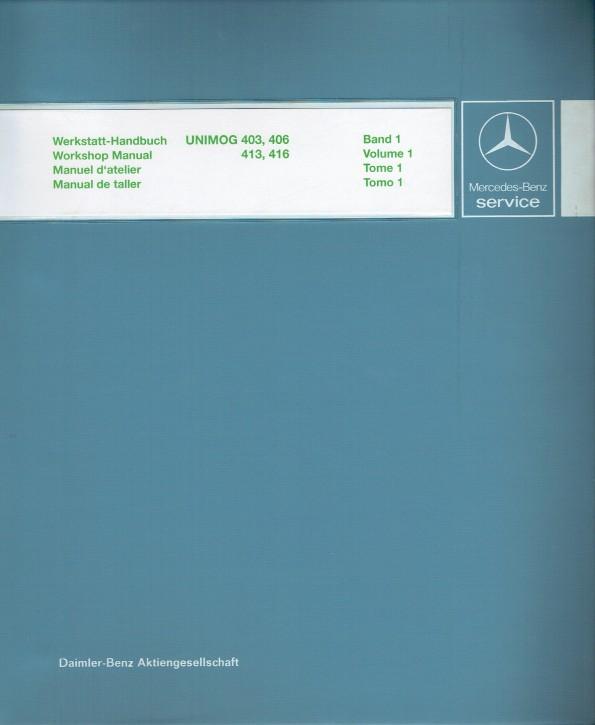 Manual de taller Unimog 403/406/413/416 - 30 404 21 01 - 144041002