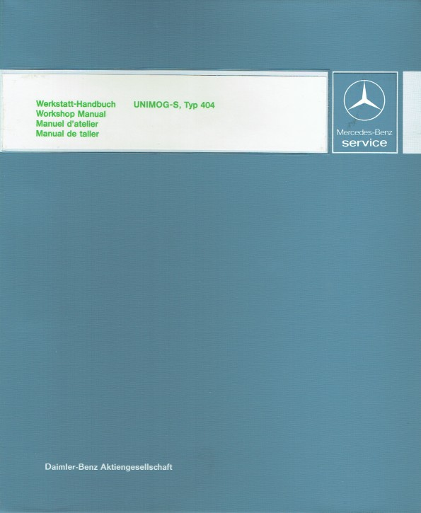 Manual de taller Unimog 404 S - 30 404 21 31 -144041001