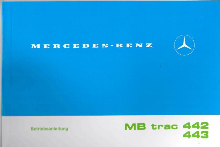 Betriebsanleitung MB-trac 442 443  - 6.1988 - 1100 1300 1500 - 30 400 51 23 - 304001024