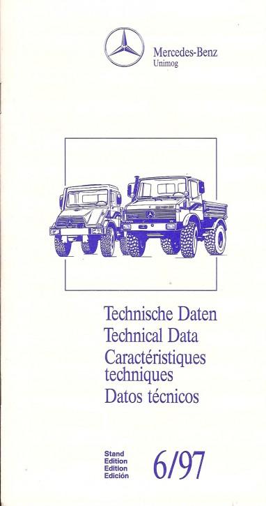 Technische Daten Unimog 6/97 - Original - 904001004