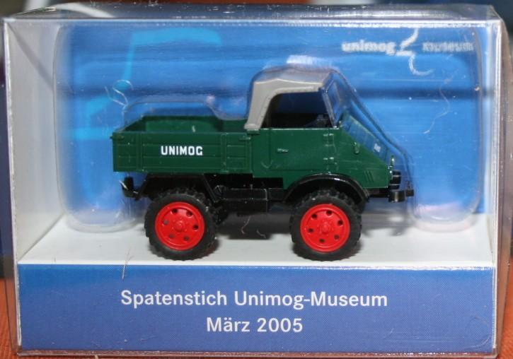 """WIKING-Sondermodell """"Spatenstich Unimog-Museum 2005"""" - 704001015"""