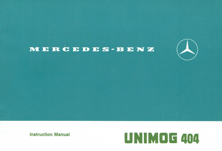 Original Instruction Manual Unimog 404 - 30 402 51 33 -  314021005