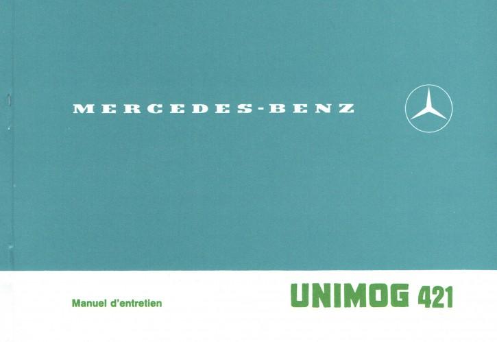 Notice d'entretien Unimog 421 - 8.1978 - 30 403 51 03 2 - 324031017