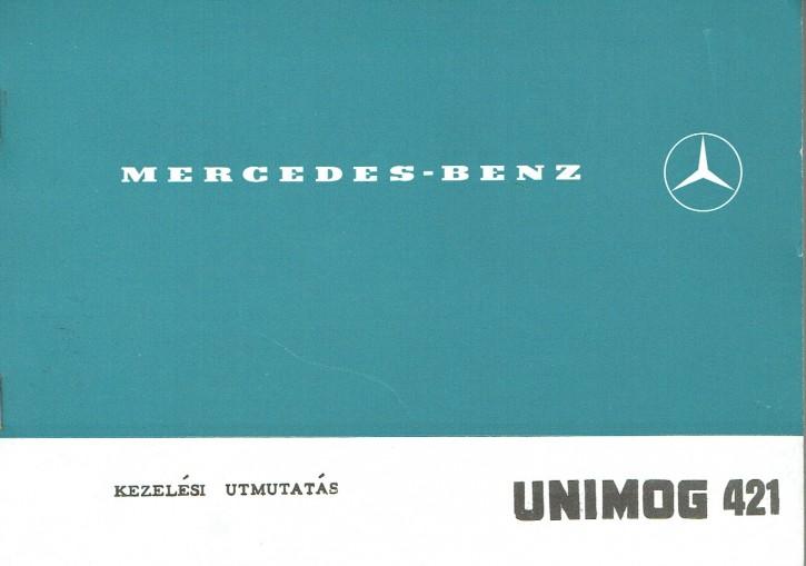 Használati útmutatók Unimog 421 - 30 421 51 03 Original - 354121001