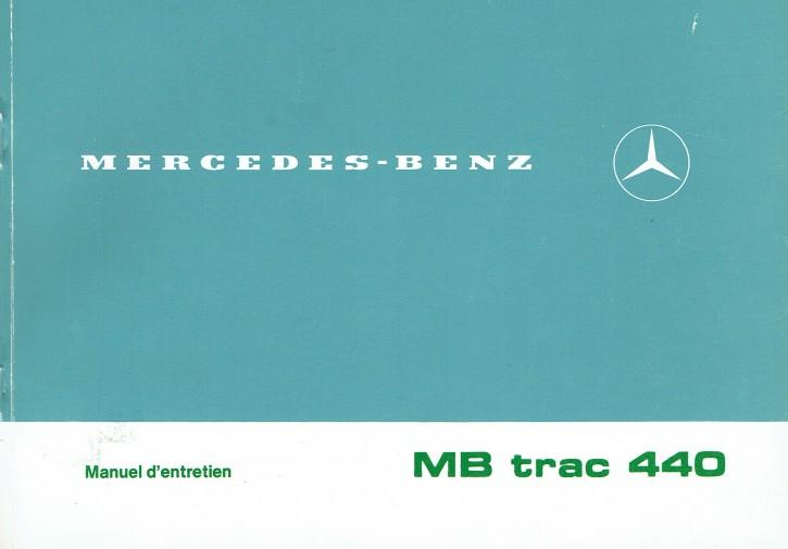 Manuel d'entretien MB-trac 440 - 30 403 51 21 1 - 324031037
