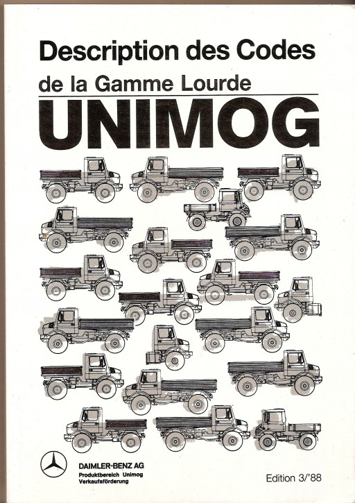 Description des Codes Unimog 3/88 Original - 324031026