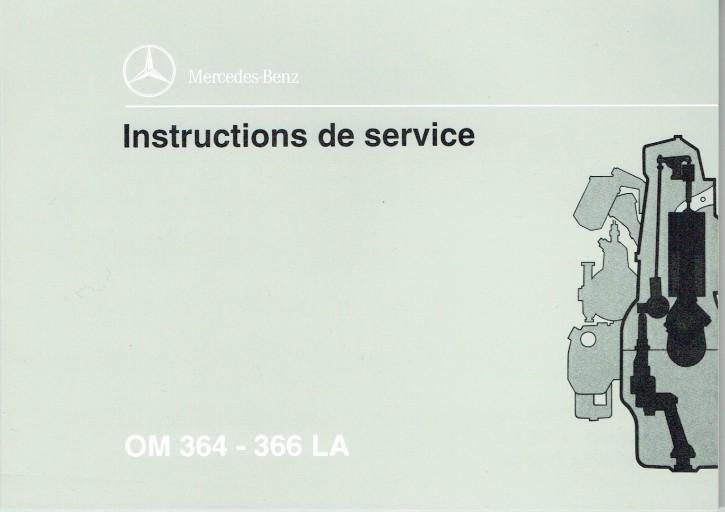 Instructions de service Moteurs Industriels  OM 364 - 366 LA - 6160 1303 03 Original - 364031009