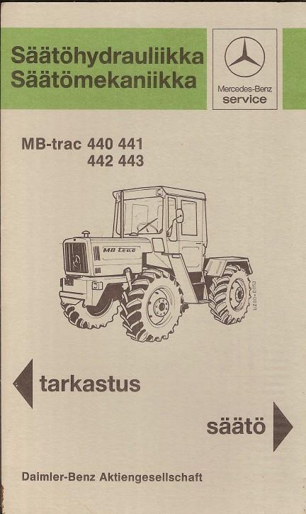 Säätöhydrauliika / Säätömekaniikka MB-trac - 30 410 4801 Original - 354101012