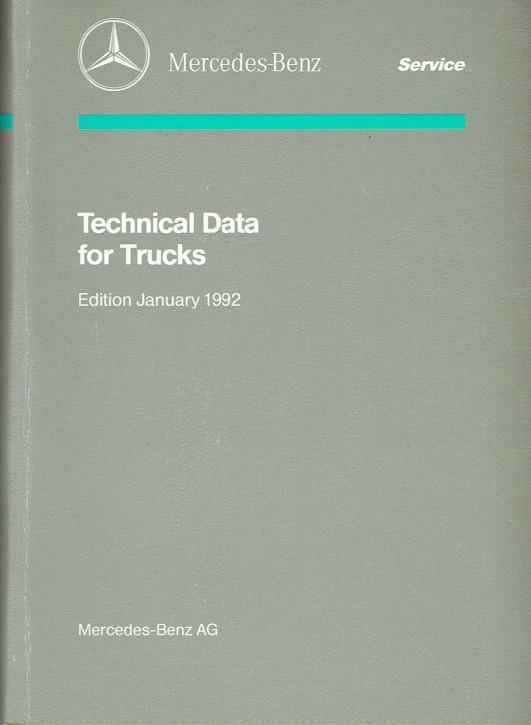 Technical Data for Trucks 1992 - 6460 1702 02 Original - 384021007