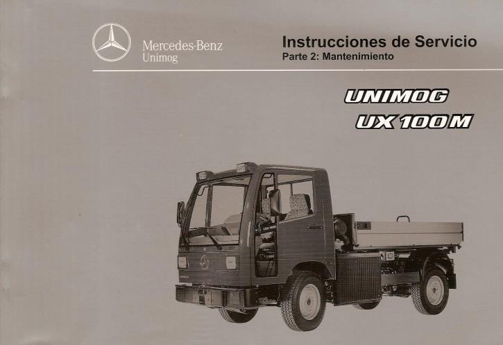Instrucciones de servicio Unimog UX 100 M  Parte 2 - 6518 5039 04 Original - 344041017