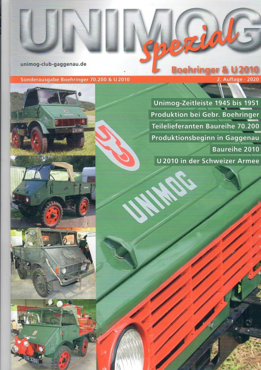 Buch: Unimog Spezial Boehringer & U 2010 2. Auflage - 604001023