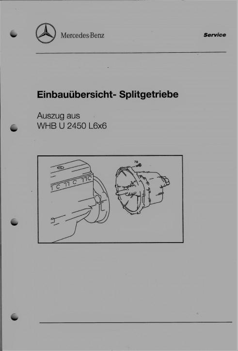Einbauübersicht- Splitgetriebe   Auszug aus WHB U 2450 L6x6 104001016 - 30400SA36855