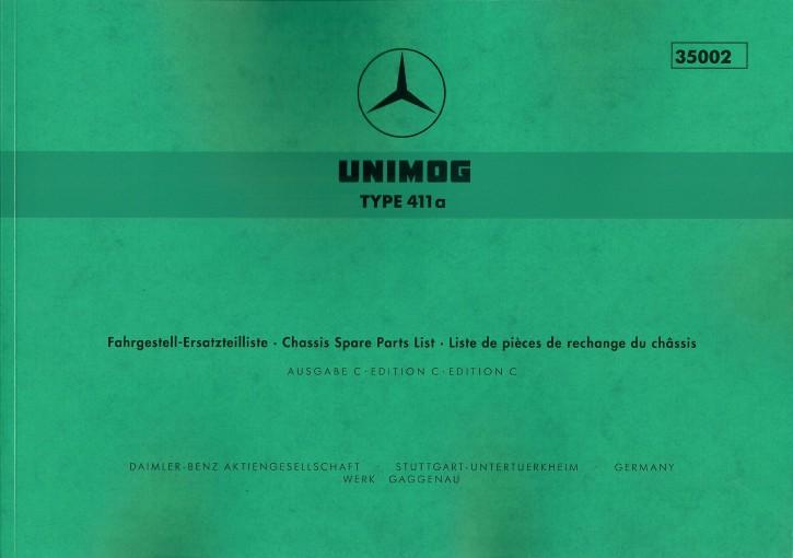 Ersatzteilliste Unimog 411a (OM 636) - 35002 - 204001005