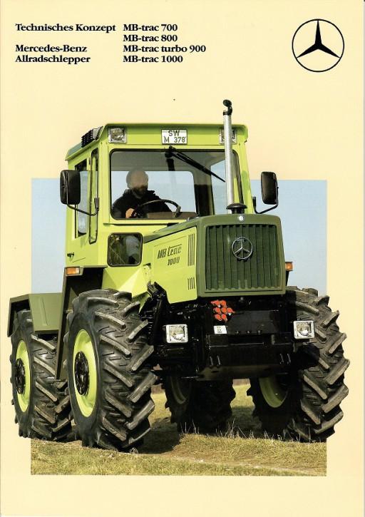 Prospekt 003 Technisches Konzept MB-trac 700, MB-trac 800, MB-trac turbo 900, MB-trac 1000 - 606000003