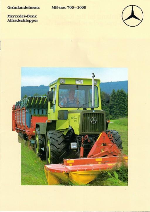 Prospekt 005 Grünlandeinsatz MB-trac 700-1000 - 606000005