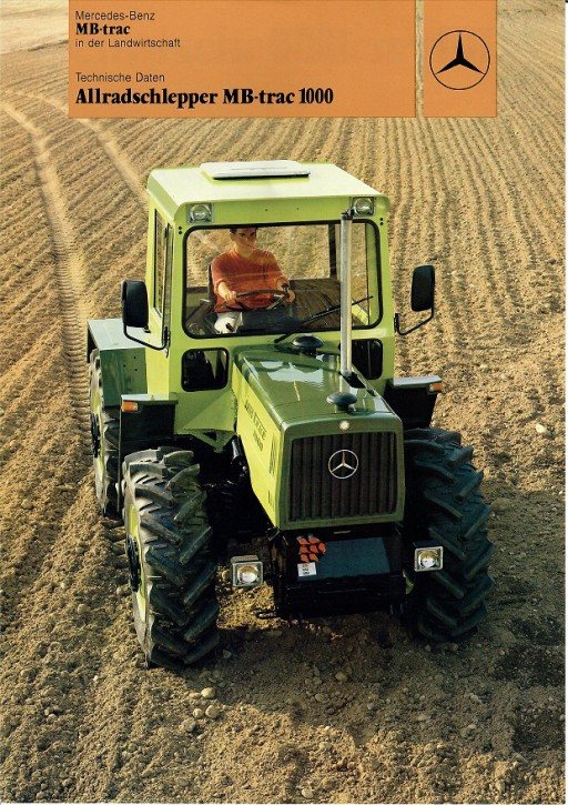 Prospekt 008 Allradschlepper MB-trac 1000 - 606000008