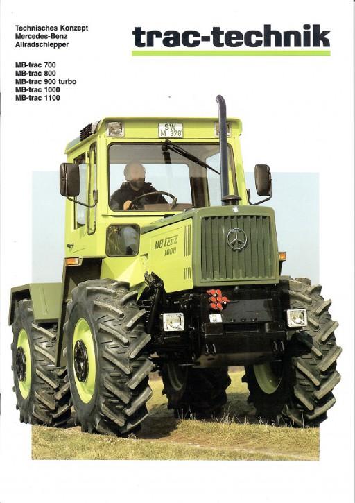 Prospekt 009 Technisches Konzept MB-trac 700, MB-trac 800, MB-trac 900 turbo, MB-trac 1000, MB-trac 1100 - 606000009