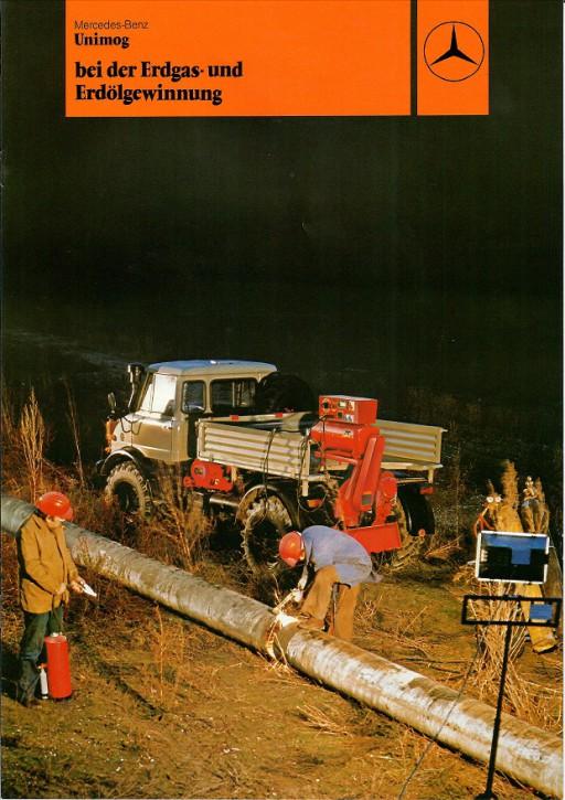 Prospekt 207 Unimog bei der Erdgas- und Erdölgewinnung - 606000207
