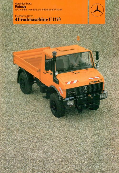 Prospekt 217 Allradmaschine U1250 in Gewerbe, Industrie und öffentlichem Dienst - 606000217