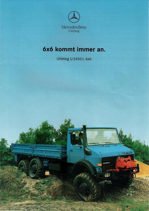 Prospekt 225 Unimog U 2450L 6x6 kommt immer an - 606000225
