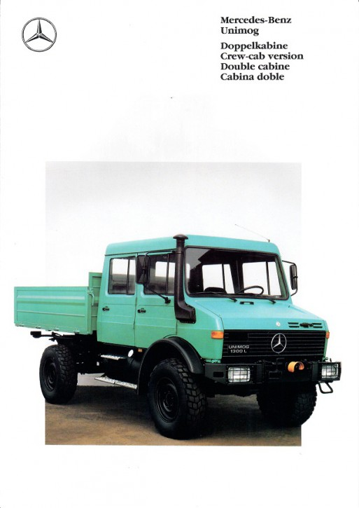 Prospekt 232 Doppelkabine Unimog   - 606000232