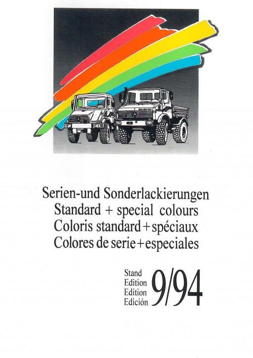 Serien- und Sonderlackierungen Unimog 9/94 - Original - 705000056