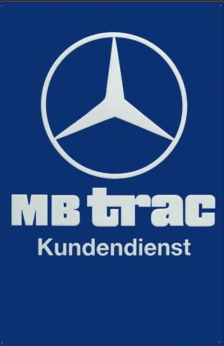 Blechschild MBtrac Kundendienst