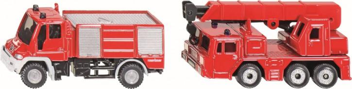 Siku Feuerwehr mit Kranwagen