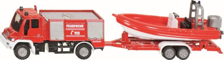Siku Feuerwehr mit Boot
