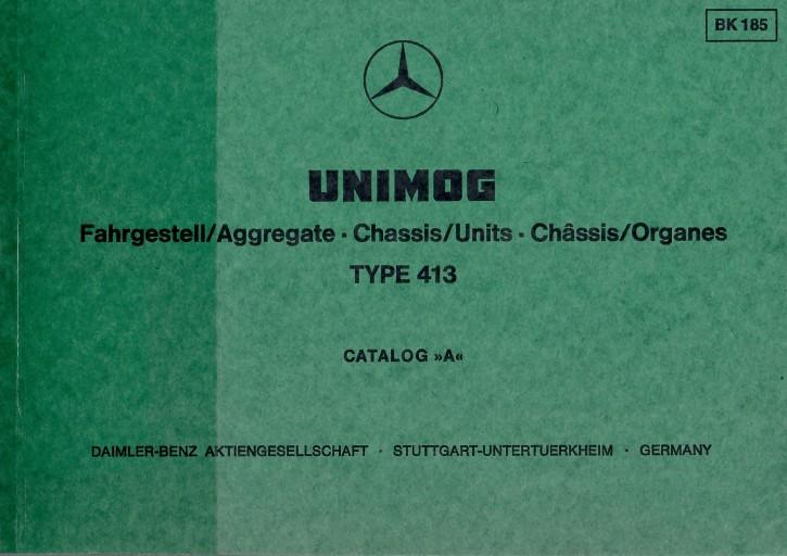 "Bildkatalog Unimog 413 OM 314 1850 Catalog ""A"" - 404001047"