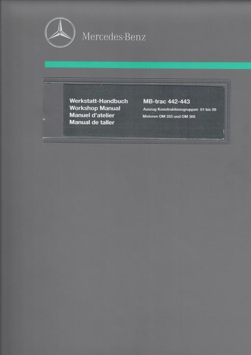Werkstatt-Handbuch Auszug Motoren OM 353 und OM 366 - 104001011 - 30 400 21 22-A