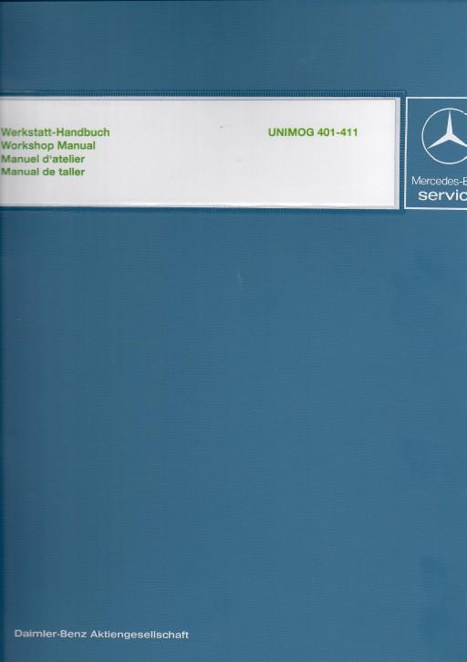 Manuale d' Officina Unimog 2010, 401,402 411 fino al modello 411.117  30 406 21 01  -134051001
