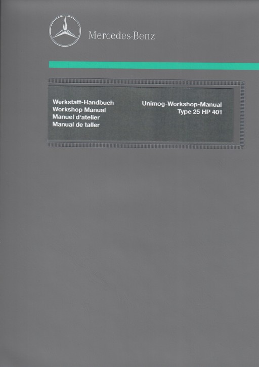 Unimog Workshop Manual 424 425 - 114021005 - 30 402 21 43
