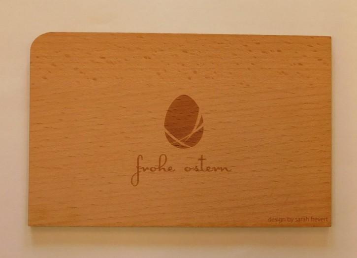 Holzpostkarte: Frohe Ostern