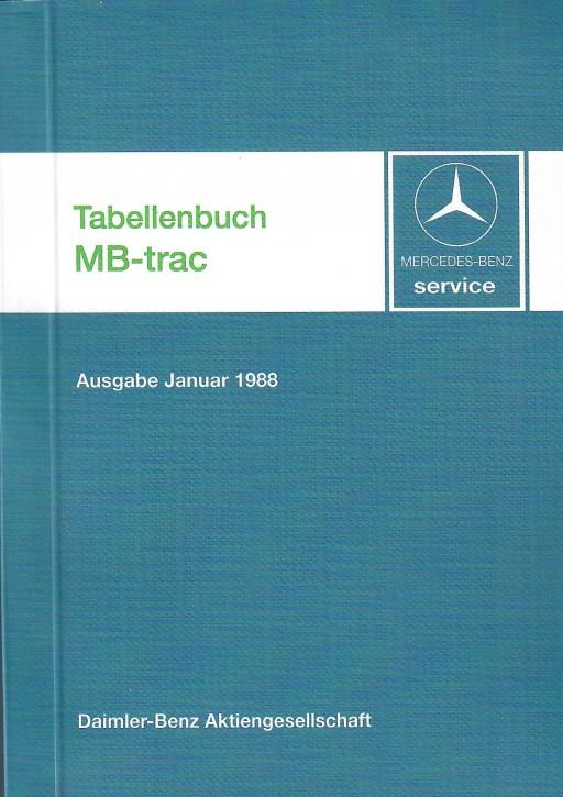 Tabellenbuch 1988 MB-trac - 30 400 31 21 - 384001002