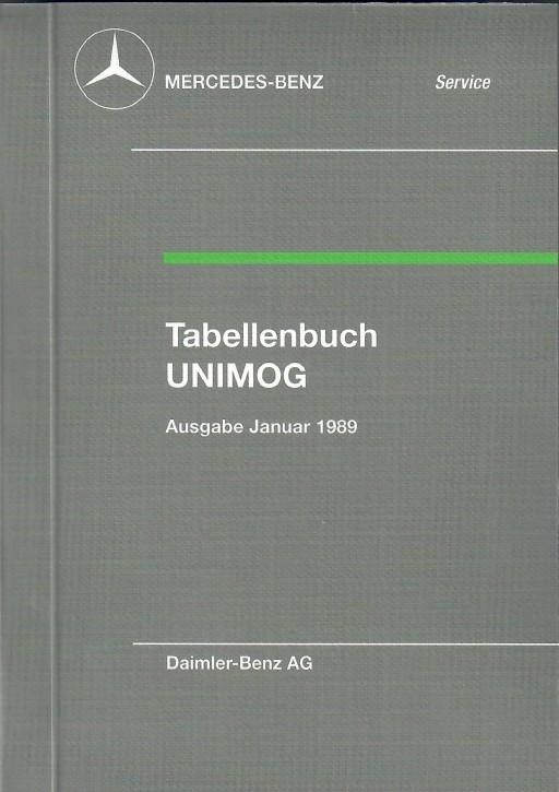 Tabellenbuch 1989 Unimog - 30 400 31 04 - 384001004
